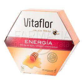 Vitaflor Jalea Real Energía 500mg Jalea Real, Ginseng y Eleuterococo  20amp