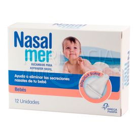Nasalmer recambios para aspirador nasal 12 uds