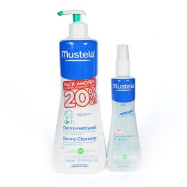 Mustela Pack ahorro Gel dermolimpiador 750ml + Colonia 200ml