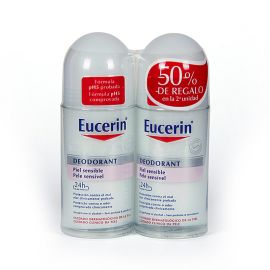 Eucerin Duplo Desodorantes Roll-On Piel Sensible 50ml