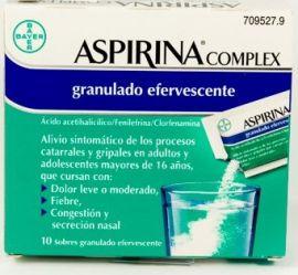 Aspirina Complex 500 Mg 10 Sobres