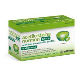 Acetilcisteina Normon 200 Mg 30 Sobres Granulado