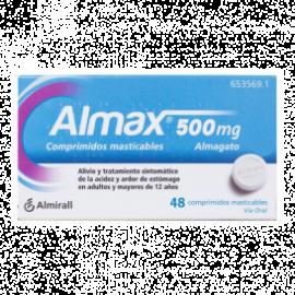 Almax 500 Mg 48 Comprimidos Masticables