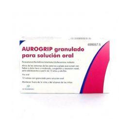 Aurogrip 650/4/10 Mg 10 Sobres Granulados Solución Oral
