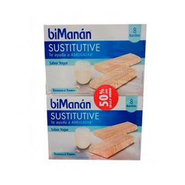 Bimanan Pack Sustitutive Barritas Sabor Yogur