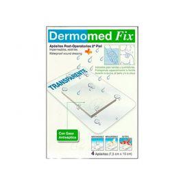 Dermomed Fix Apósito Post-Operatorio Segunda Piel 10 cm x 7.5 cm 4 Unidades