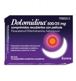 Dolomidina 500/25 Mg 10 Comprimidos