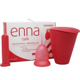 Copa Menstrual Enna Cycle 2 Uds con Aplicador Talla S
