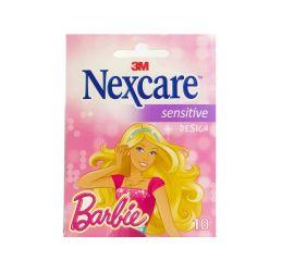 Nexcare Sensitive Design Barbie 10 Unidades