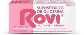 Supositorios Glicerina Rovi Lactantes 10 Unidades