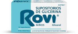 Supositorios Glicerina Rovi Niños 15 Unidades