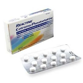 Reactine Cetirizina/pseudoefedrina 5mg/12mg