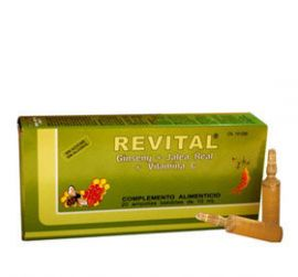 Revital Ginseng + Jalea Real +VitaminaC 20 Ampollas Bebibles