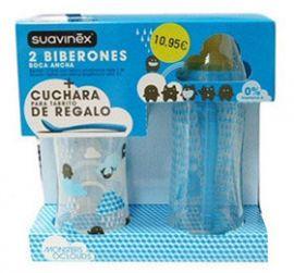 Suavinex Pack Biberon Boca Ancha 280+360ml