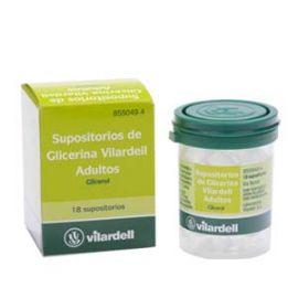 Supositorios Glicerina Vilardell Adulto 18 Unidades