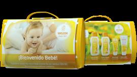 Weleda Set Bienvenido Bebé + REGALO Neceser de algodón y pañal ecológico